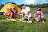 Family picnic — Foto Stock