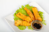Tempura with salmon — Stock Photo