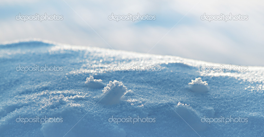 Real beautiful snow background. Winter Christmas theme. — Stock Photo #8327798
