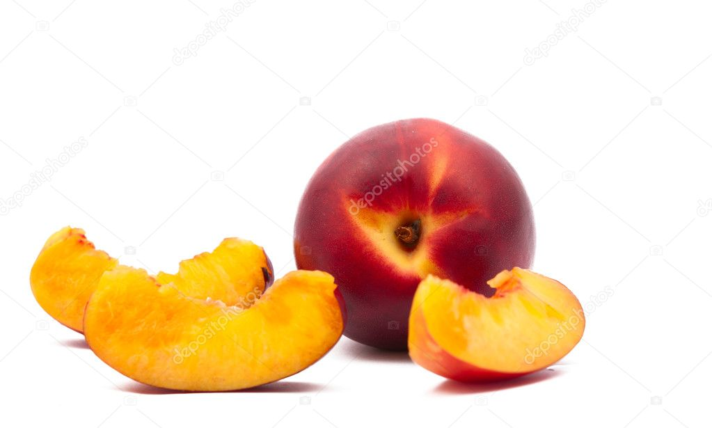 Peach isolated on white background — Stock Photo #10032882