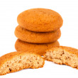 Oatmeal cookies isolated — Stock Photo