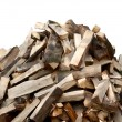 Firewood isolated — Stock Photo