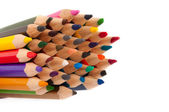 Color pencils isolated — 图库照片