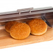 Breadbasket buns with isolated — Stock Photo