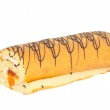Roll with cream isolated — Stock Photo #8516318