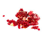 Pomegranate seeds isolated — Stock Photo