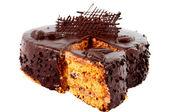 шоколадный торт изолированные — Стоковое фото