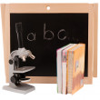 School board with books isolated — Foto de Stock