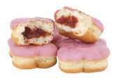 Donut with pink frosting — Stock Photo