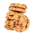 Pile of chocolate chip cookies isolated — Stock Photo #9462371