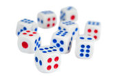 Dice isolated — Stock Photo