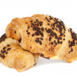 Croissant with chocolate isolated — Stock Photo