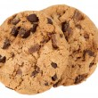 Stock Photo: Pile of chocolate chip cookies isolated