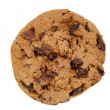 Pile of chocolate chip cookies isolated — Stock Photo #9738201
