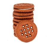 Biscotti isolati — Foto Stock
