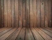 Dark vintage brown wooden planks interior with artistic shadows — Stock Photo