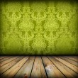 Dark vintage green room — Stockfoto