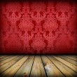 Dark vintage red room — Stock Photo