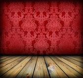 Dark vintage red room — Stock Photo