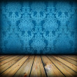 Dark vintage blue room - 图库照片