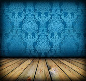 Dark vintage blue room — Stock Photo