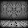 Dark vintage room - Stock Photo