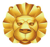 Metal lion — Vector de stock