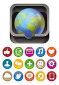 Vector app icon — Stock Vector