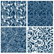 Royalty-Free Stock Imagen vectorial: Set of floral seamless patterns