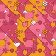 Abstract modern love background — Imagen vectorial
