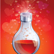 Love elixir in small bottle — Stock Vector