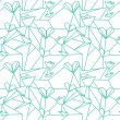 Seamless origami pattern with hearts — Vector de stock