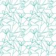 kalpleri ile sorunsuz origami desen — Stok Vektör