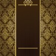 Vector vintage background with golden elements - Image vectorielle