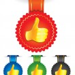 Set of badges with best choice signs — Stock Vector