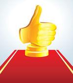 Złota nagroda dla najlepszego wyboru — Wektor stockowy