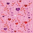 Seamless love pattern with confetti — ストックベクター #8554601