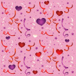 Seamless love pattern with confetti — Stock vektor