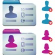 Female and male profile for social media — Stock Vector