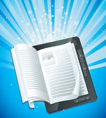 Elektronische boekconcept — Stockvector