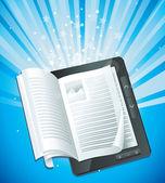 电子书的概念 — 图库矢量图片