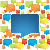 Social media background with speech bubbles — Stock Vector