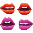 Sexy lips collection- vector illustration - Stock Vector