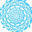 Stock Vector: Blue graphic mandala - vector illustration