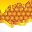 Bright honey background - vector illustration - Stock Vector