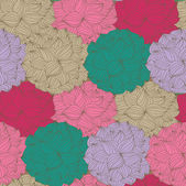 Vector seamless pattern with flowers — Stock Vector