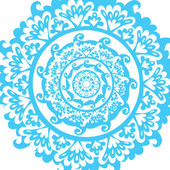 Blue graphic mandala - vector illustration — Stock Vector