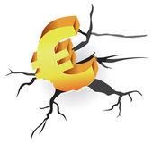 Concept - euro crisis — Stock Vector
