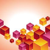 Abstrato moderno com cubo — Vetorial Stock