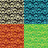 Vector vintage seamless patterns — Stok Vektör